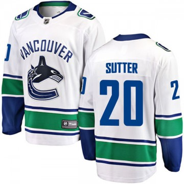 Breakaway Fanatics Branded Youth Brandon Sutter Vancouver Canucks Away Jersey - White